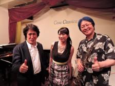 夜の部 ★ACOUSTIC POPS LIVE★ 松永明子(ボーカル)若宮功三(ピアノ)富永正寿(サックス・フルート)