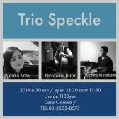 昼の部 Trio Speckle Noriko Kato(ピアノ)Hirobumi Baba(ベース)Kazuto Murakami(ドラム)