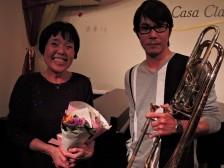 夜の部 有賀祐介(バストロンボーン)有賀美佐子(ピアノ) バストロンボーンによるクラシック音楽